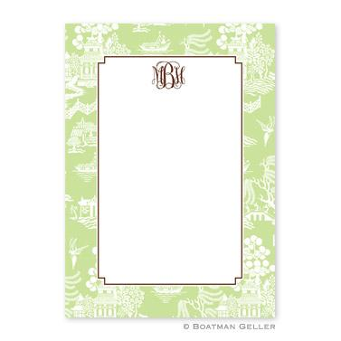 Chinoiserie Green Flat Card  Office Supplies > General Supplies > Paper Products > Stationery