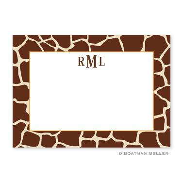 Giraffe Brown Flat Card  Office Supplies > General Supplies > Paper Products > Stationery