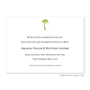 Boatman Geller Personalized Palm Flat Card Invitation  Office Supplies > General Supplies > Paper Products > Stationery