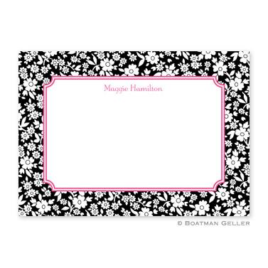 Petite Flower Midnight Flat Card  Office Supplies > General Supplies > Paper Products > Stationery