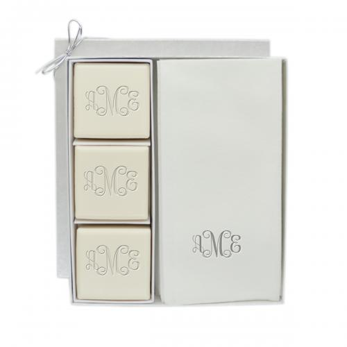 Carved Soutions Monogrammed Soap Set and Paper Towel Set  Health & Beauty > Personal Care > Cosmetics > Bath & Body > Bar Soap