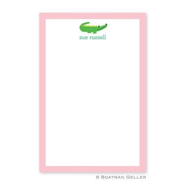 Boatman Geller Personalized Notepad with Alligator Pattern  Office Supplies > General Supplies > Paper Products > Notebooks & Notepads