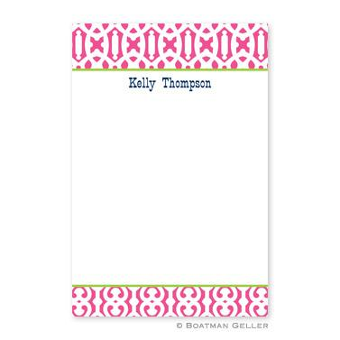Boatman Geller Personalized Notepad with Cameron Raspberry Pattern  Office Supplies > General Supplies > Paper Products > Notebooks & Notepads