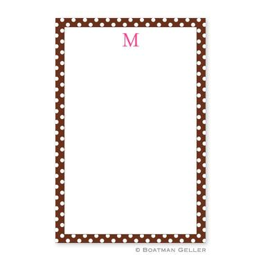 Boatman Geller Personalized Notepad with Dot Brown Pattern  Office Supplies > General Supplies > Paper Products > Notebooks & Notepads