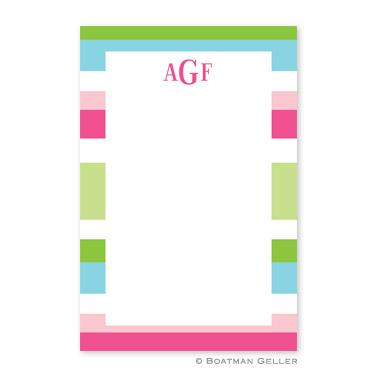 Boatman Geller Personalized Notepad with Espadrille Preppy Pattern  Office Supplies > General Supplies > Paper Products > Notebooks & Notepads