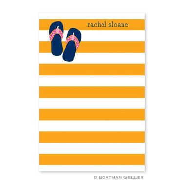 Boatman Geller Personalized Notepad in Stripe Flip Flops Pattern  Office Supplies > General Supplies > Paper Products > Notebooks & Notepads