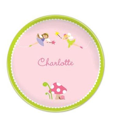 Boatman Geller Personalized Melamine Plate with Fairy Pattern  Home & Garden > Kitchen & Dining > Tableware > Dinnerware > Plates