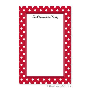 Boatman Geller Personalized Notepad with Polka Dot Cherry Pattern  Office Supplies > General Supplies > Paper Products > Notebooks & Notepads