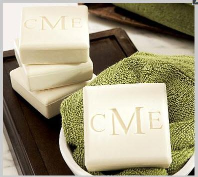 Persoanlized Carved Guest Soaps set of Four  Health & Beauty > Personal Care > Cosmetics > Bath & Body > Bar Soap