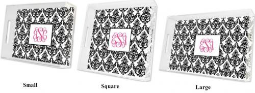 Boatman Geller Personalized Damask Tray  Home & Garden > Kitchen & Dining > Tableware > Serveware > Serving Trays