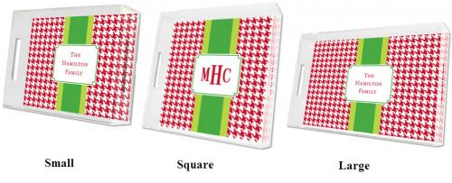 Boatman Geller Personalized Red Houndstooth Tray  Home & Garden > Kitchen & Dining > Tableware > Serveware > Serving Trays