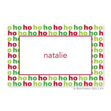 Boatman Geller Personalized Ho Ho Ho Placemat  Home & Garden > Linens & Bedding > Table Linens > Placemats