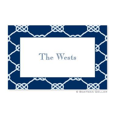 Boatman Geller Personalized Nautical Knot Navy Placemat  Home & Garden > Linens & Bedding > Table Linens > Placemats