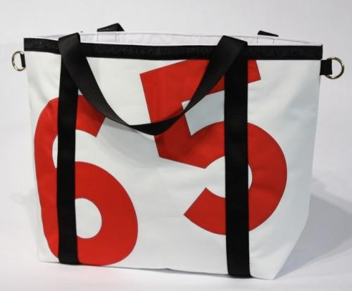Personalized Ella Vickers Sailcloth Tote Bag with Oversized letters or numbers  Apparel & Accessories > Handbags > Tote Handbags