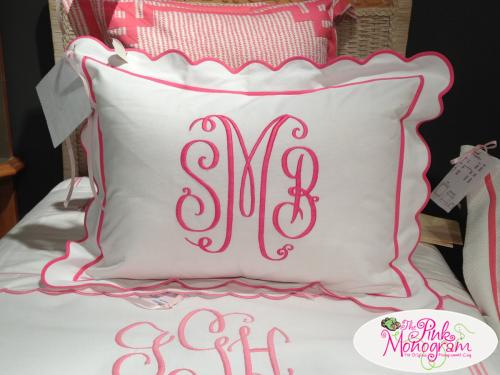 Monogrammed Bed Shams( set of 2) from Jane Wilner Designs  Home & Garden > Linens & Bedding > Bedding > Pillows