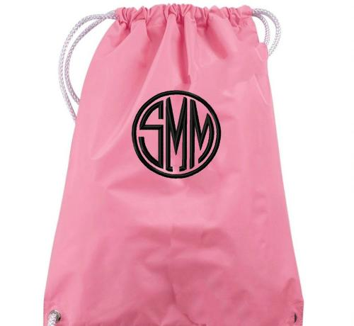 Monogrammed Drawstring Backpack    Apparel & Accessories > Handbags
