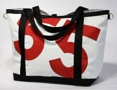 Ella Vickers Yacht Club Tote Bag With Oversized Personalization  Apparel & Accessories > Handbags > Tote Handbags