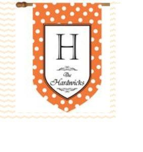 Personalized Halloween Flag with Orange and White Polka Dots Personalized Halloween Flag with Orange and White Polka Dots Home & Garden > Decor > Flags & Windsocks