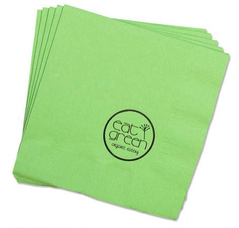 Personalized 3-Ply Solid Dinner Napkins  NULL