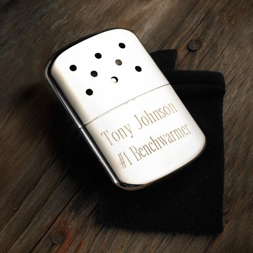 Personalized Zippo Hand Warmer Personalized Zippo Hand Warmer Sporting Goods > Outdoor Recreation > Camping, Backpacking & Hiking > Camping Tools
