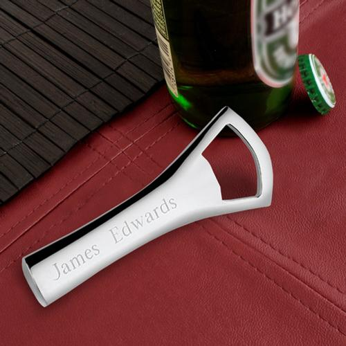 Monogrammed Bottle Opener Silver Plated  Engraved Bottle Opener Silver Plated  Home & Garden > Kitchen & Dining > Barware > Drink Shakers & Tools > Bottle Openers