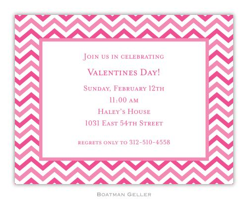 Chevron Valentine Small Invitation  Office Supplies > General Supplies > Paper Products > Stationery