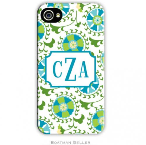 Personalized iPhone Case Suzani Teal   Electronics > Communications > Telephony > Mobile Phone Accessories > Mobile Phone Cases