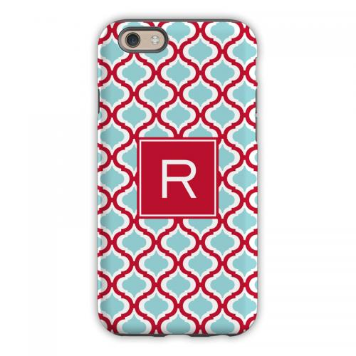Personalized iPhone Case Kate Red & Teal   Electronics > Communications > Telephony > Mobile Phone Accessories > Mobile Phone Cases