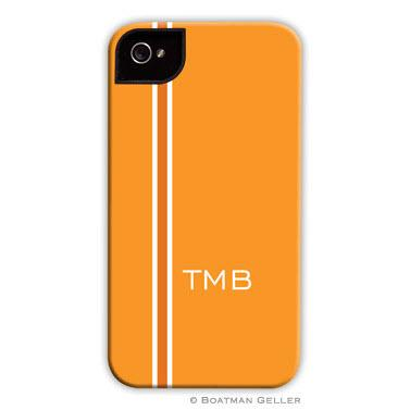 Personalized iPhone Case Racing Stripe Orange   Electronics > Communications > Telephony > Mobile Phone Accessories > Mobile Phone Cases