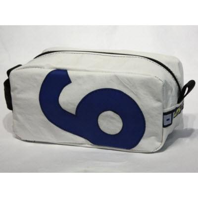 Personalized Ella Vickers Sailcloth Toiletry Kit with Letter size same as picture  Luggage & Bags > Toiletry Bags