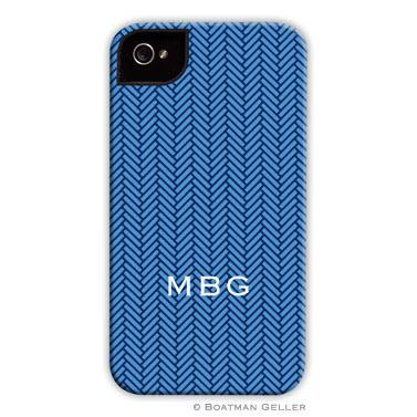 Personalized iPhone Case Herringbone Blue  Electronics > Communications > Telephony > Mobile Phone Accessories > Mobile Phone Cases