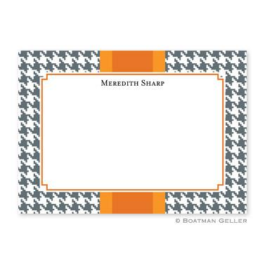 Alex Houndstooth Gray Flat Card  Office Supplies > General Supplies > Paper Products > Stationery