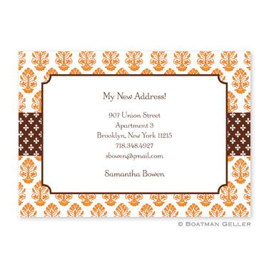 Boatman Geller Personalized Beti Orange Flat Card Invitation  Office Supplies > General Supplies > Paper Products > Stationery