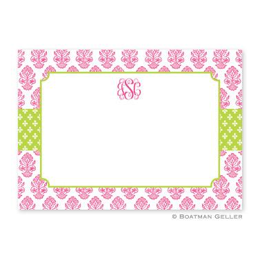 Boatman Geller Personalized Beti Pink Flat Card  Office Supplies > General Supplies > Paper Products > Stationery