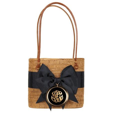 MOB Bag Bow Round Motif  Apparel & Accessories > Handbags