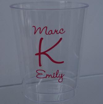 8 oz Personalized Clear Hard Plastic Cups  Home & Garden > Kitchen & Dining > Barware