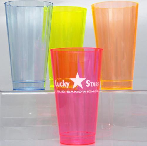 16 oz Personalized Neon Hard Plastic Cups  NULL