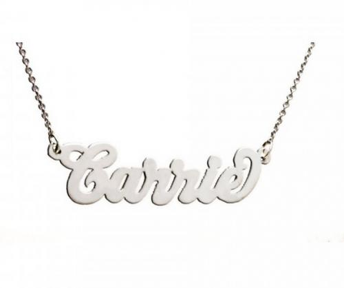 Personalized Name Necklace in Carrie Script  Apparel & Accessories > Jewelry > Necklaces