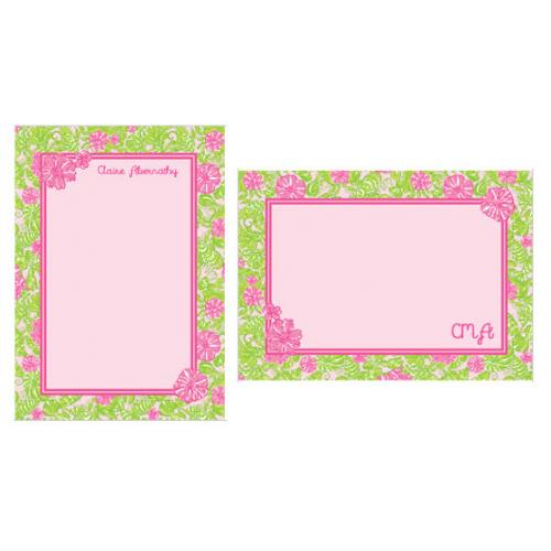 Lilly Pulitzer Personalized Correspondence Card Chum Bucket  NULL