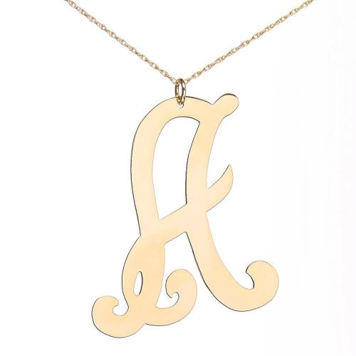 Large Monogram Initial Necklace  Apparel & Accessories > Jewelry > Necklaces