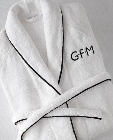 Matouk Monogrammed Terry Cairo Robe  Apparel & Accessories > Clothing > Sleepwear & Loungewear > Robes