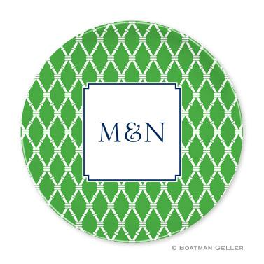 Boatman Geller Personalized Melamine Plate with Bamboo Pattern  Home & Garden > Kitchen & Dining > Tableware > Dinnerware > Plates