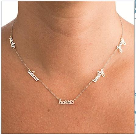Multi Name Necklace- Add All The Kids Names  Apparel & Accessories > Jewelry > Necklaces