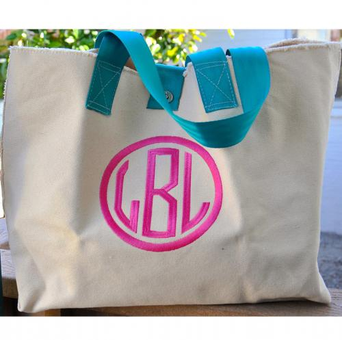 Queen Bea Cole Bag with Monogrammed Dot or Varsity Letter  Apparel & Accessories > Handbags > Tote Handbags