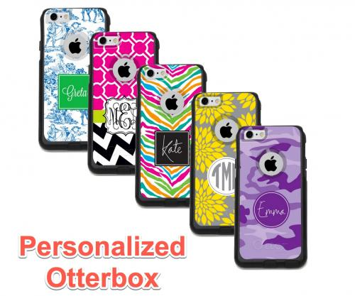 Monogrammed Iphone Otterbox Case Iphone 4,5,6,6Plus,7,7Plus  Electronics > Communications > Telephony > Mobile Phone Accessories > Mobile Phone Cases