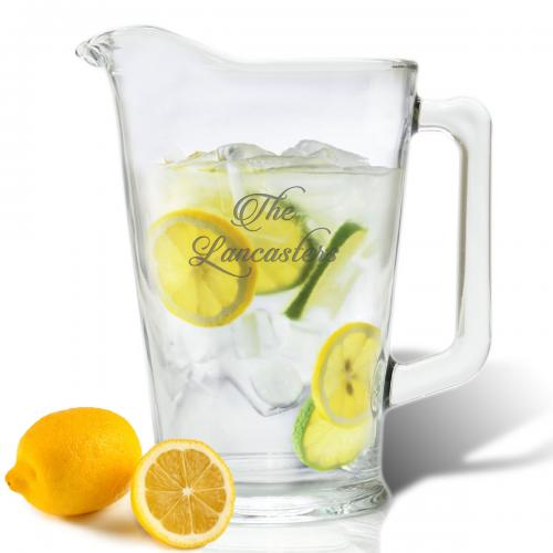 Carved Solutions Personalized Glass Pitcher  Home & Garden > Kitchen & Dining > Tableware > Serveware > Serving Pitchers & Carafes