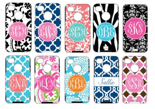 Monogrammed Otterboxes For iPhone 4, iPhone 5,5S, 5C, Samsung, New Defender for 5s  NULL