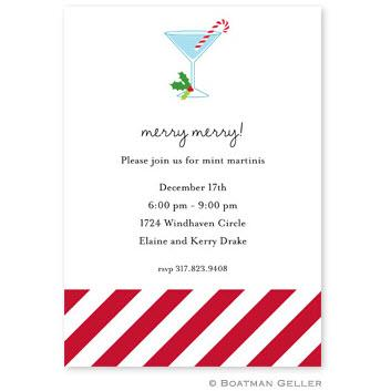Boatman Geller Personalized Candy Cane Invitation  Office Supplies > General Supplies > Paper Products > Stationery