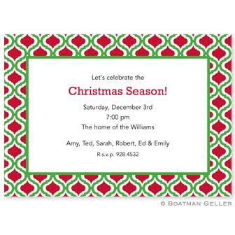 Boatman Geller Personalized Kelly & Red Invitation  Office Supplies > General Supplies > Paper Products > Stationery