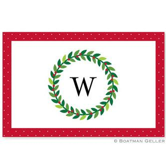 Boatman Geller Personalized Wreath Placemat  Home & Garden > Linens & Bedding > Table Linens > Placemats